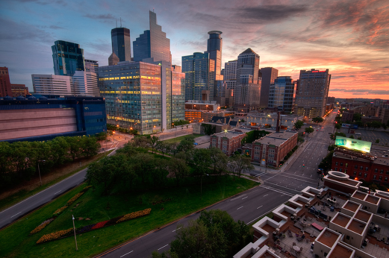 Downtown Minneapolis Skyline from 110 Grant
