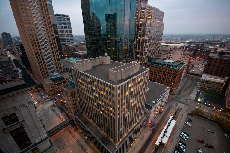 Downtown from Fifth Street Towers |  Photos of downtown Minneapolis skyline