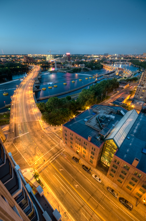 Traffic from Carlisle  |  Downtown Minneapolis Skyline Photos