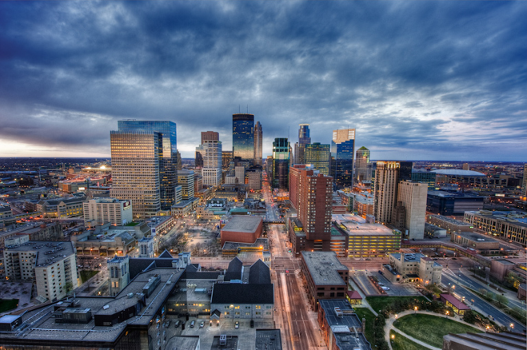 Downtown Minneapolis Skyline from Marquette