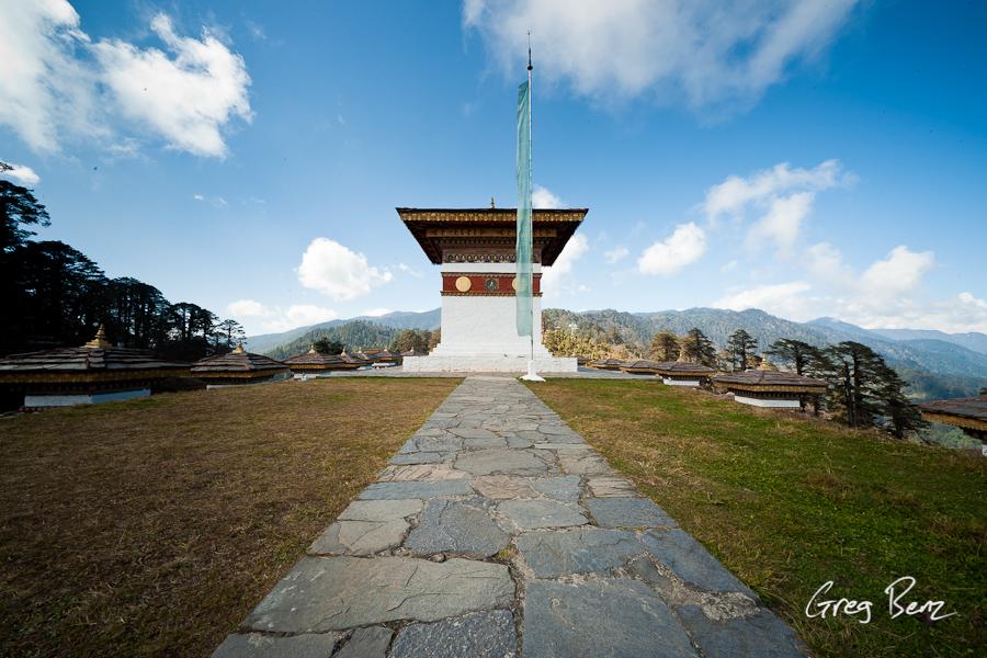 Bhutanese stupa at Dorchula Pass