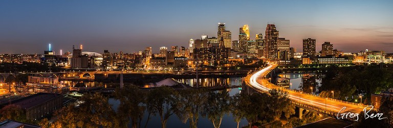 downtown Minneapolis riverfront