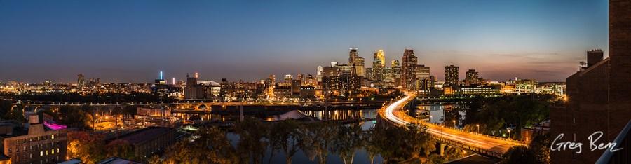 downtown Minneapolis panorama