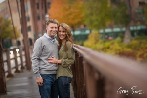 Low Angle Engagement Shot on Rails of on Nicollet Island Bridge