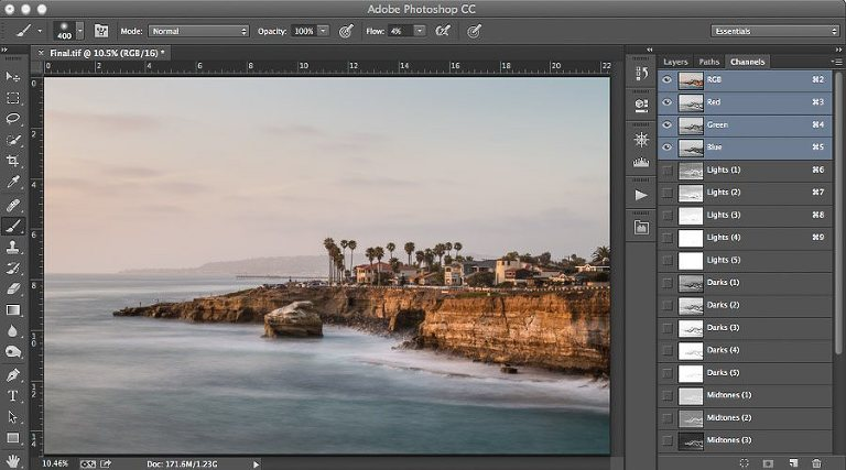 Run Action to Create Luminosity Masks