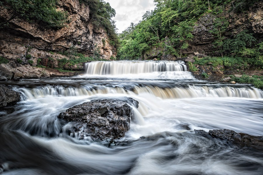 Willow River Falls in Hudson, WI.