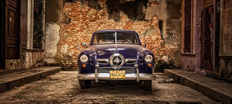 Cuban car edited with luminosity masks