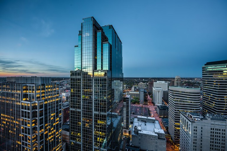 RBD Tower Minneapolis at Sunset