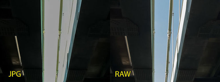 iPhone JPG vs RAW - highlight recovery