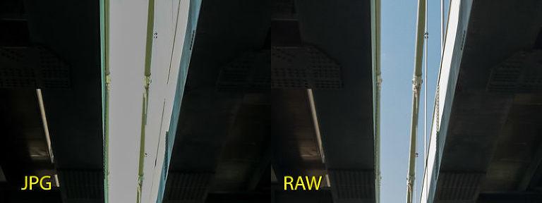 iPhone JPG vs RAW - highlight recovery