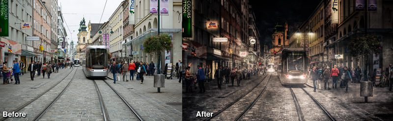 Before and After Lumenzia