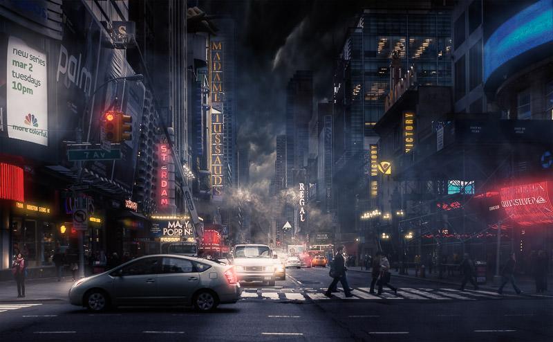 Times Square - Jackson Carvalho - after Lumenzia