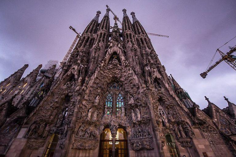 Antoni Gaudí´s iconic church in Barcelona, Spain
