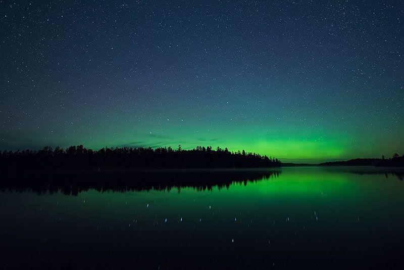 Aurora Borealis in Northern Minnesota