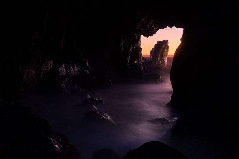Sea Cave at Sunset