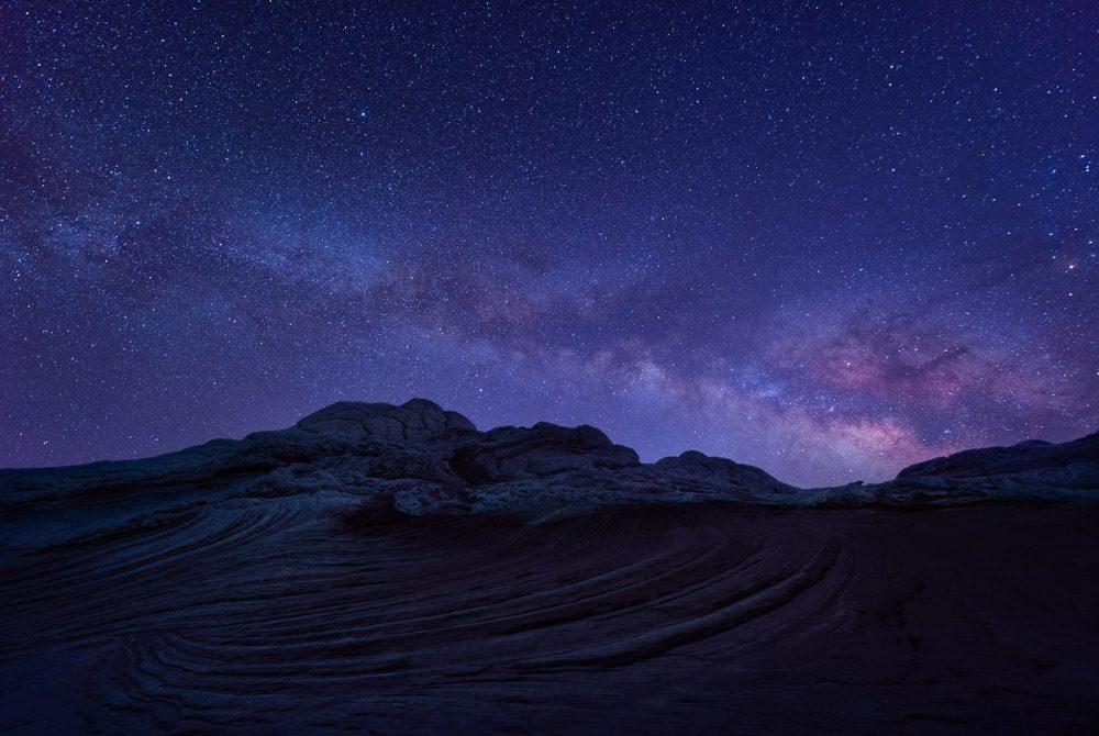 The Milky Way over Sandstone in the Arizona Landscape