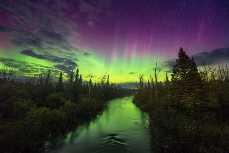 Aurora Borealis - exposure blending with luminosity masks