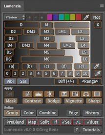 Lumenzia luminosity masking panel for Photoshop